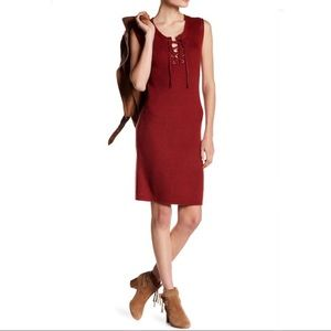 Cupcakes and Cashmere Red Thora Knit Sheath Dress